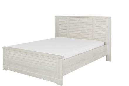 Thelma Panel Bed, Euro King White